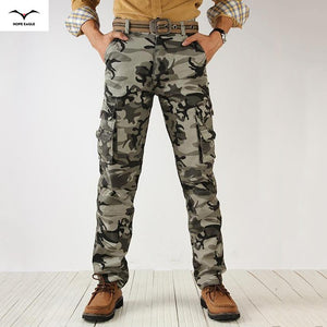 Active Men Spring Army Green Fashion Cargo Pants Crotch Jogger Patchwork-iuly.com