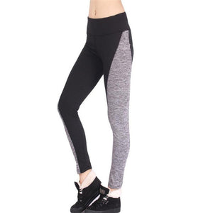 Durable Legging Fitness Women Workout Trousers Pants Patchwork Elastic-iuly.com