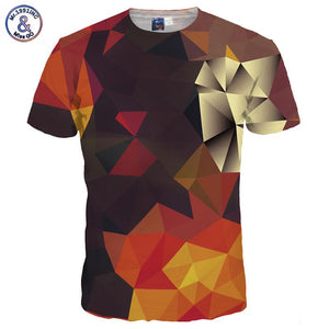 3D T-Shirt Men/Women Summer Tees Print Color Blocks 3D T Shirt Tshirts-iuly.com
