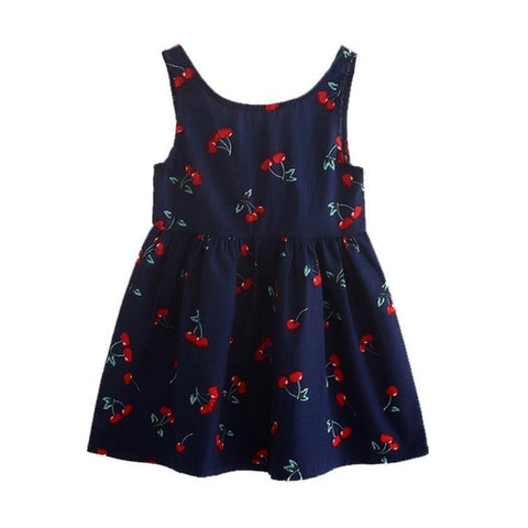 Girl Summer Dress Kids Teens Sleeves Printing Pattern Cotton Dress Clothes-iuly.com