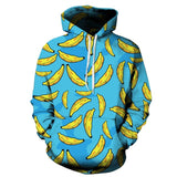 Autumn Winter Men/Women Hooded Hoodies With Cap Print Banana 3D Sweatshirts-iuly.com