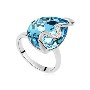 Charm Jewelry Crystal From Swarovski Female Rings Vintage Womens Wedding-iuly.com