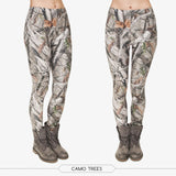 Fashion Camo Branches 3D Printing Slim Legging Women Casual Home Leggings Woman-iuly.com