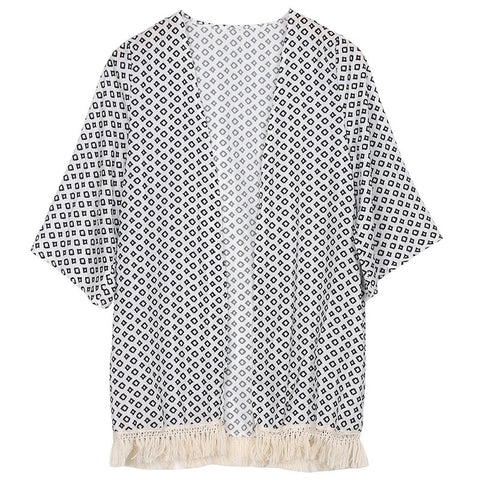 Aririval Women Tops Women Blouse Summer Top Chiffon Shawl Cardigan Kim-iuly.com