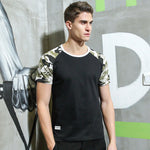 Camouflage T Shirt Men Patchwork T-Shirt Top Cotton Tshirt Adt705072-iuly.com