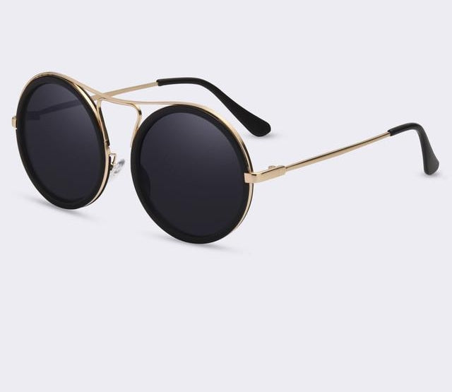 Vintage Round Sunglasses Women Reflective Sun Glasses Female Women'S Shades-iuly.com