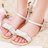 Big Size 33-43 Rome Style Ankle Straps Sandals Sweet Bowtie Summer Shoes Flat-iuly.com