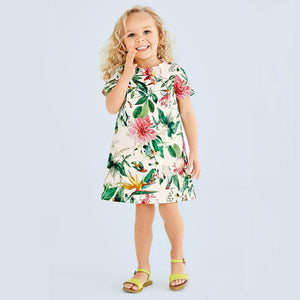 Kids Dress Robe Fille Girls Summer Dresses Toddler Clothes Leaves Flower-iuly.com