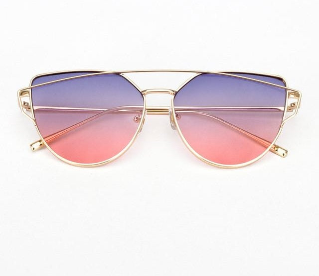 Vintage Women Sunglasses Metal Frame Cat Eye Sun Glasses Ombre Shades Ss720-iuly.com