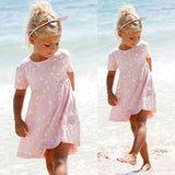 Baby Girls Dress Summer Short Sleeve Cotton Princess Dresses For Toddle Kid-iuly.com