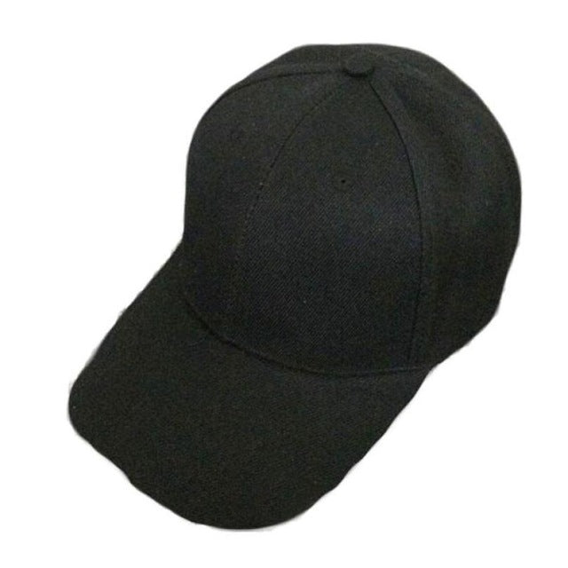 Canvas Baseball Cap Blank Hat Solid Color Adjustable Hat Touca Menino Cayler-iuly.com