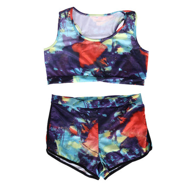 Women Multicolor Floral Bikini Sports Swimwear Beachwear Bathing Ea14-iuly.com