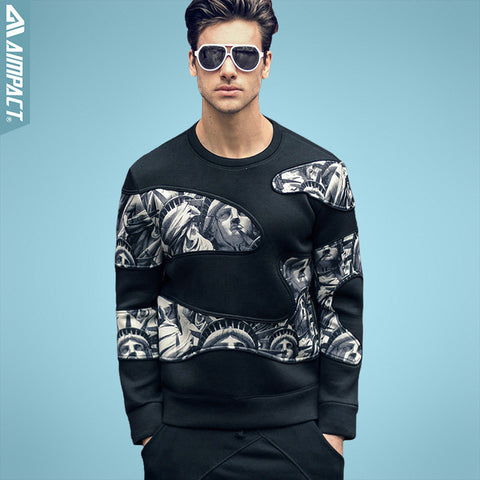 Aimpact Clear Out Sweatshirt Statue Of Liberty Spring Autumn Men'S Outwear Heavyweight-iuly.com