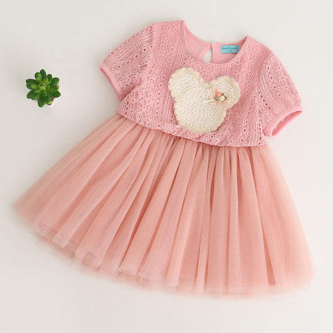 Girls Dress Summer Children Clothing Princess Embroidery Dress Lace Tutu Ball-iuly.com