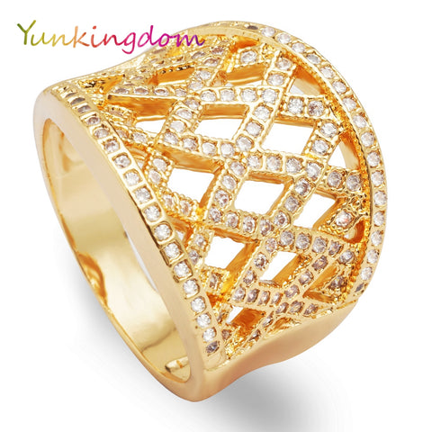 Zircon Rings Women Men Engagement Female Gold Color Zirconia Crystal Jewelry-iuly.com