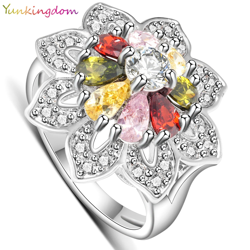 Charms Rings Women White Gold Color Aneis Big Ring Female Alp0794-iuly.com