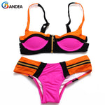 Bikini Women Swimsuit Female Patchwork Swimwear Strappy Bathing Suit Brazilian-iuly.com