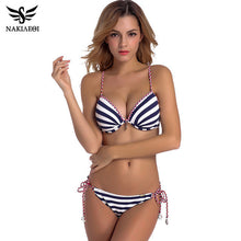 Load image into Gallery viewer, Bandage Bikini Push Up Swimwear Women Brazilian Bikini Set Bathing Suit Underwire-iuly.com
