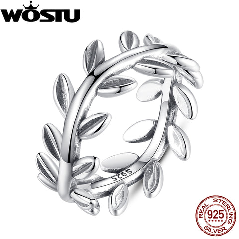925 Sterling Silver Laurel Wreath Engagement Rings Women Female Genuine-iuly.com