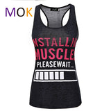 Installing Muscles Please Wait. Funny Women'S Workout Tank Top. Burnou-iuly.com