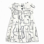 Baby Girl Dress Animal Print Princess Dress Girl Summer Clothes 100% Cotton-iuly.com