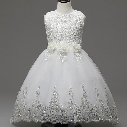 5 Color Summer Baby Girls Dress Wedding Dress White After Short Before Long-iuly.com