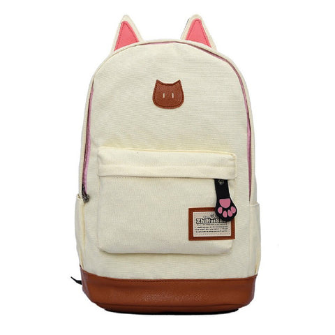 Canvas Backpack For Women Satchel School Bags Cute Rucksack School Backpack-iuly.com