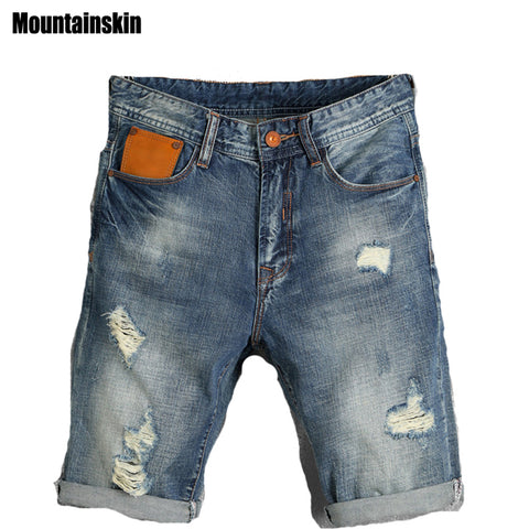 Summer Men'S Ripped Fashion Jeans Hole Pop Jogger Male Denim Shorts Th-iuly.com