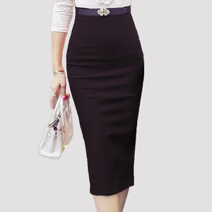 Ladies Skirt Ol Women Slim Fitted Knee Length Waist Straight Career Pe-iuly.com