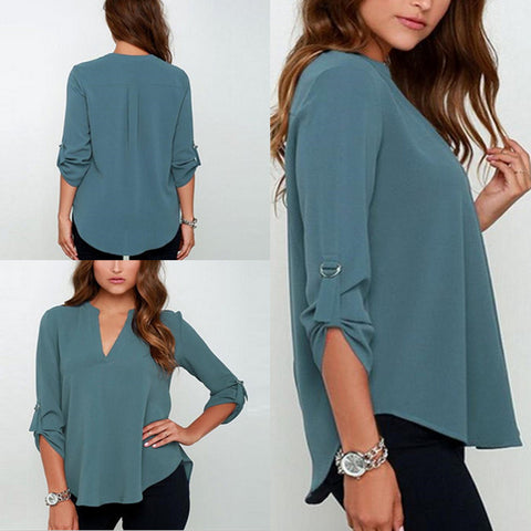 9 Colors Blusa Feminino Trendy S-5Xl Plus Size Women Blouses Ladies Of-iuly.com