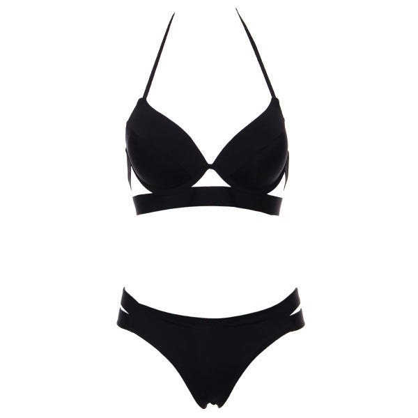 Bikinis Women Black Bandage Swimsuit Sexy Push Up Swimwear Low Waist Bathing-iuly.com