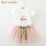 Girls Clothing Sets Summer Children Dresses White Short T-Shirt +Short Skirt-iuly.com