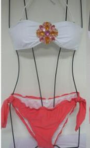 Pocket Girl Women Crystal Rhinestone Push Up Swimwear Halter Bikini Be-iuly.com