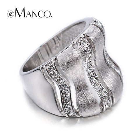 E-Manco Of Hollow Out Silver Plated Rhinestone Personality Both Male And-iuly.com