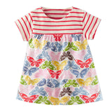 Baby Girls Summer Dress With Animal Appliques Brand Kids Dresses For Girls Clothes-iuly.com