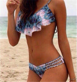 Brazilian Bikini Print Swimwear Women Bathing Suit Swimsuit Pink Color-iuly.com