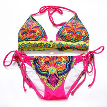 Load image into Gallery viewer, Bikini Women Swimwear Embroidery Printing Swimsuit Summer Beach Bathing Suit-iuly.com
