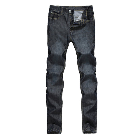 Men'S Summer Thin Denim Jeans Solid Lightweight Jeans Male Full Length-iuly.com