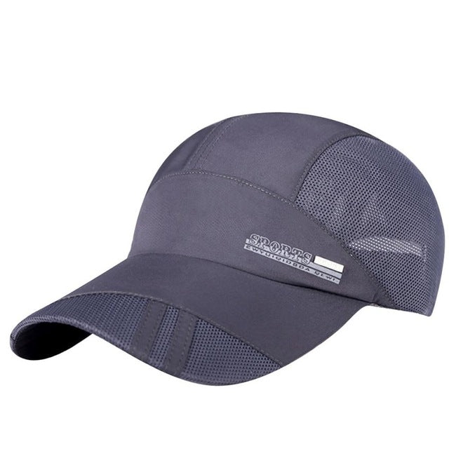 Baseball Cap Women Men Mesh Hat Quick-Dry Snapback Sun Hat Sunscreen Baseball-iuly.com