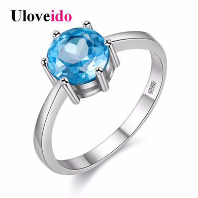 5% Girl Silver Cubic Zirconia Ring Female Engagement Rings Women Jewelry-iuly.com