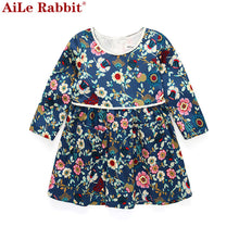 Load image into Gallery viewer, 18M-4 Ages Girls Dress Casual Long Sleeves Flower A-Line Princess Girl Dresses-iuly.com