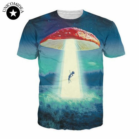 Ufo Galaxy Rihanna Anti 3D Sublimation Print T Shirts Men Women Summer Styles-iuly.com