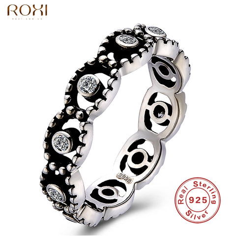 925 Sterling Silver Finger Rings With Clear Crystal Zirconia Ring Women-iuly.com