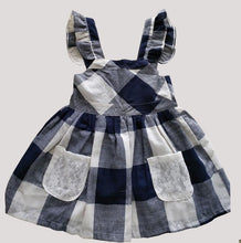 Load image into Gallery viewer, Enjoy Girls Clothes Summer Girls Plaid Dress Blue Kids Dress 3-8Year Tunic-iuly.com