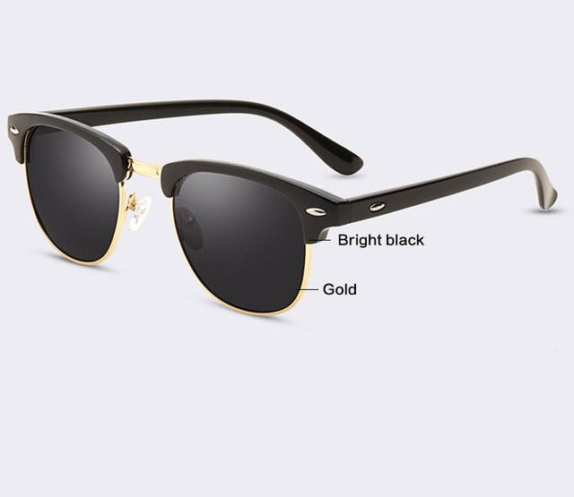 Classic Half Metal Sunglasses Men Women Glasses G15 Coating Mirror Sun Glas-iuly.com
