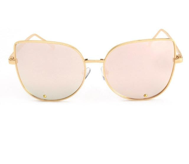 Cat Eye Sunglasses Women Alloy Frame Sun Glasses Shades De Sol Ss179-iuly.com
