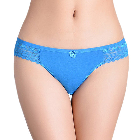 86812 Women'S Hipster Cotton Lace Briefs Panties-iuly.com