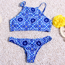 Load image into Gallery viewer, 9 Styles! Print Color Neck Halter Low Waist Banded Women Bikini Bathin-iuly.com