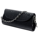 Design Crocodile Pattern Women Chain Handbag Cluth Faux Leather Evening-iuly.com