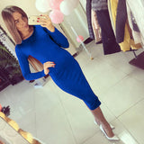 Slim Bodycon Bandage Dress Long Sleeve Knee Length Midi Dresses Autumn High-iuly.com